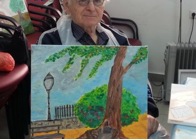 Holocaust survivors – Painting course for Holocaust survivors with Marc de Klijn