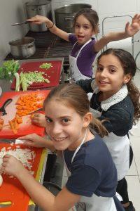 Meisjes aan het koken